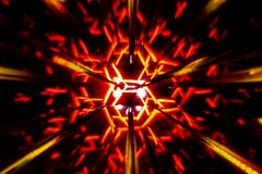 Repetitive pattern by reflections of an image in mirrors. Color kaleidoscopic image stock images