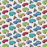 Repetitive pattern with transport cars Stock Photos