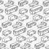 Repetitive pattern with transport cars Royalty Free Stock Photography