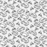 Repetitive pattern with transport cars Stock Photography