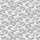 Repetitive pattern with transport cars Stock Image