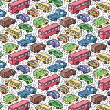 Repetitive pattern with transport cars Stock Images