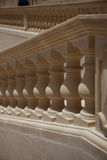 Repetitive shadows and light on a balustrade Stock Photo