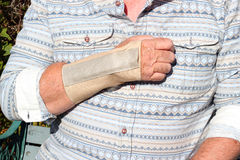 Repetitive strain injury-wrist splint. Carpal tunnel. Stock Photography