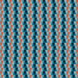 Repetitive triangles. Background of colored and repetitive triangles. Predominant cold tones, with an orange accent royalty free illustration