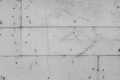 Repig bakgrund för gråskalapolystyrenväggen med skissar Royaltyfri Foto