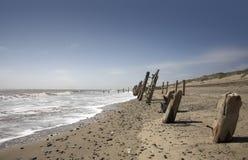 Repila a cena da praia do ponto Imagem de Stock