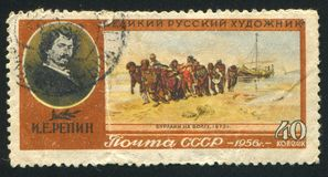 Repin伏尔加河船员 库存照片