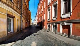 Repin ulica na Vasilievsky wyspie w St Petersburg Obraz Royalty Free