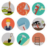 Repire flat icons Stock Photography