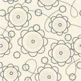 Repita a amostra floral Foto de Stock