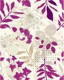 Repita a amostra floral Imagem de Stock Royalty Free