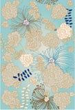 Repita a amostra floral Fotos de Stock