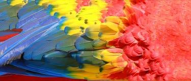 Repita mecanicamente a textura das penas, do vermelho, a amarela e a azul Imagem de Stock Royalty Free