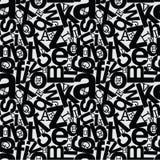 Repita o desordem do alfabeto do fundo do teste padrão Fotografia de Stock Royalty Free