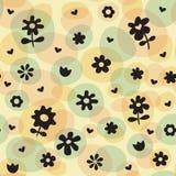 Repita o teste padrão do divertimento das flores da mola Fotos de Stock Royalty Free