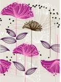 Repita o teste padrão floral Fotografia de Stock Royalty Free