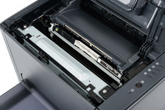 Replace black toner cartridge Royalty Free Stock Image