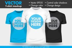 Replace Design with your Design, Change Colors Mock-up T shirt Template. Vector vector illustration