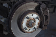 Replacement of a car wheel Royalty Free Stock Photo