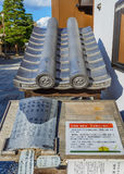 Replacement roof tiles at Chion-in Temple Royalty Free Stock Photo