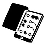 Replacement screen smartphone icon, simple black style Royalty Free Stock Image