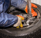 Replacement tires Royalty Free Stock Image