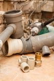Replacement of water supply and sewerage. Stock Photography