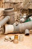 Replacement of water supply and sewerage. Royalty Free Stock Photography