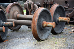 Replacement wheels. For railroad cars stock image