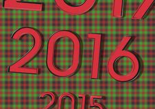 2015 replaces the 2016 and 2017 .. its like a calendar. on Christmas background Stock Photos