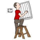 Replacing Air Filter Stock Image