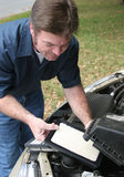 Replacing Auto Air Filter Stock Photo