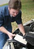 Replacing Auto Air Filter Stock Photo