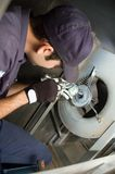 Replacing bearings of blower Stock Photo