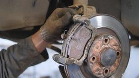 Replacing brake pads. Maintenance of the suspension of the car. Replacing brake pads