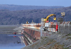 Replacing the deck of Arnside (Kent) viaduct Royalty Free Stock Images