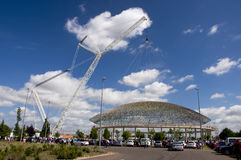 Replacing of the dome F. Buesa Arena Royalty Free Stock Photo