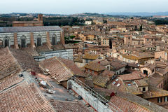 Replacing Old Tiles On Siena Roof Stock Image