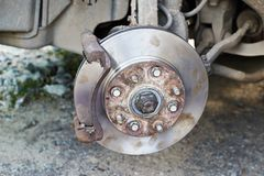 Brake pads replacement royalty free stock images