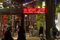 Replay jeans shop Stock Photography