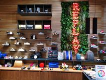 Replay store indoor at AFI Cotroceni, Bucharest. Romania. REPLAY is the brand that puts together the Italian denim and smart-casual clothes, a brand that royalty free stock images