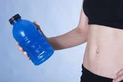 Replenish. Work out drink Royalty Free Stock Photography