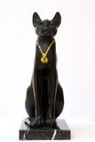 Replica ancient egyptian goddess cat. With property release Royalty Free Stock Photo