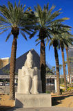 Replica of ancient egyptian statue at Luxor hotel and casino in Royalty Free Stock Images