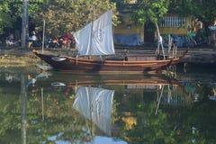 Replica of ancient junks. Hoi An, Vietnam Royalty Free Stock Photos