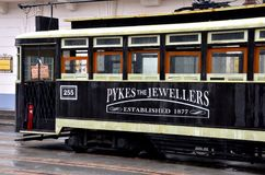 Replica of antique Shanghai tram trolley, China Royalty Free Stock Photography