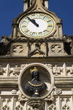 Replica bust of Charles I on Chichester city market Cross. In Chichester, West Sussex England UK Royalty Free Stock Image