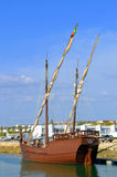 Replica of the caravel Boa Esperanca. Lagos, Algarve, Portugal - October 1, 2014: Replica of the caravel Boa Esperanca Royalty Free Stock Photo