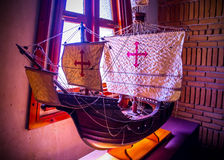 Replica of Christopher Columbus ship Stock Images